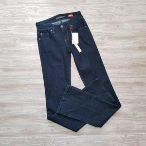 NWT Level 99 Chloe Boot Cut Reign Dark Wash Jean